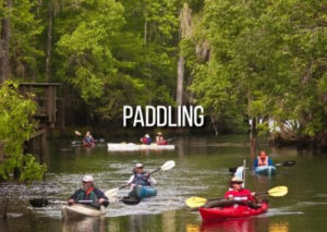 paddling in gilchrist's springs